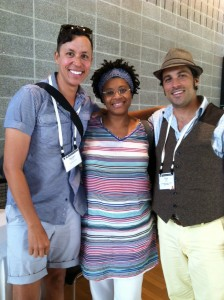 Daniel Alexander Jones, Shay, Nick Slie at Theatre Communications Group (TCG) Conference in Dallas, 2013